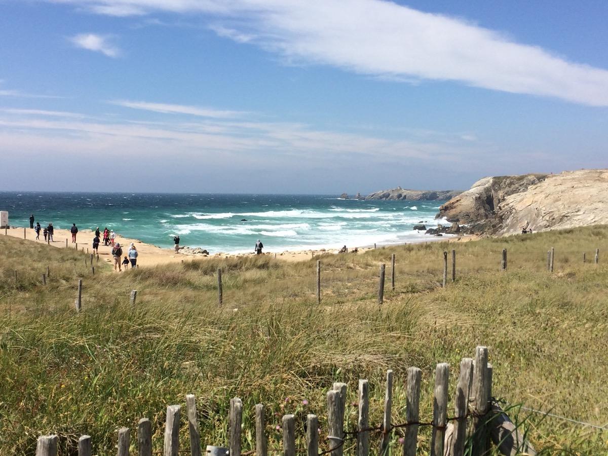 vagues côte sauvage Quiberon